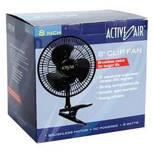 "Active Air 8"" Clip Fan, 7.5W"